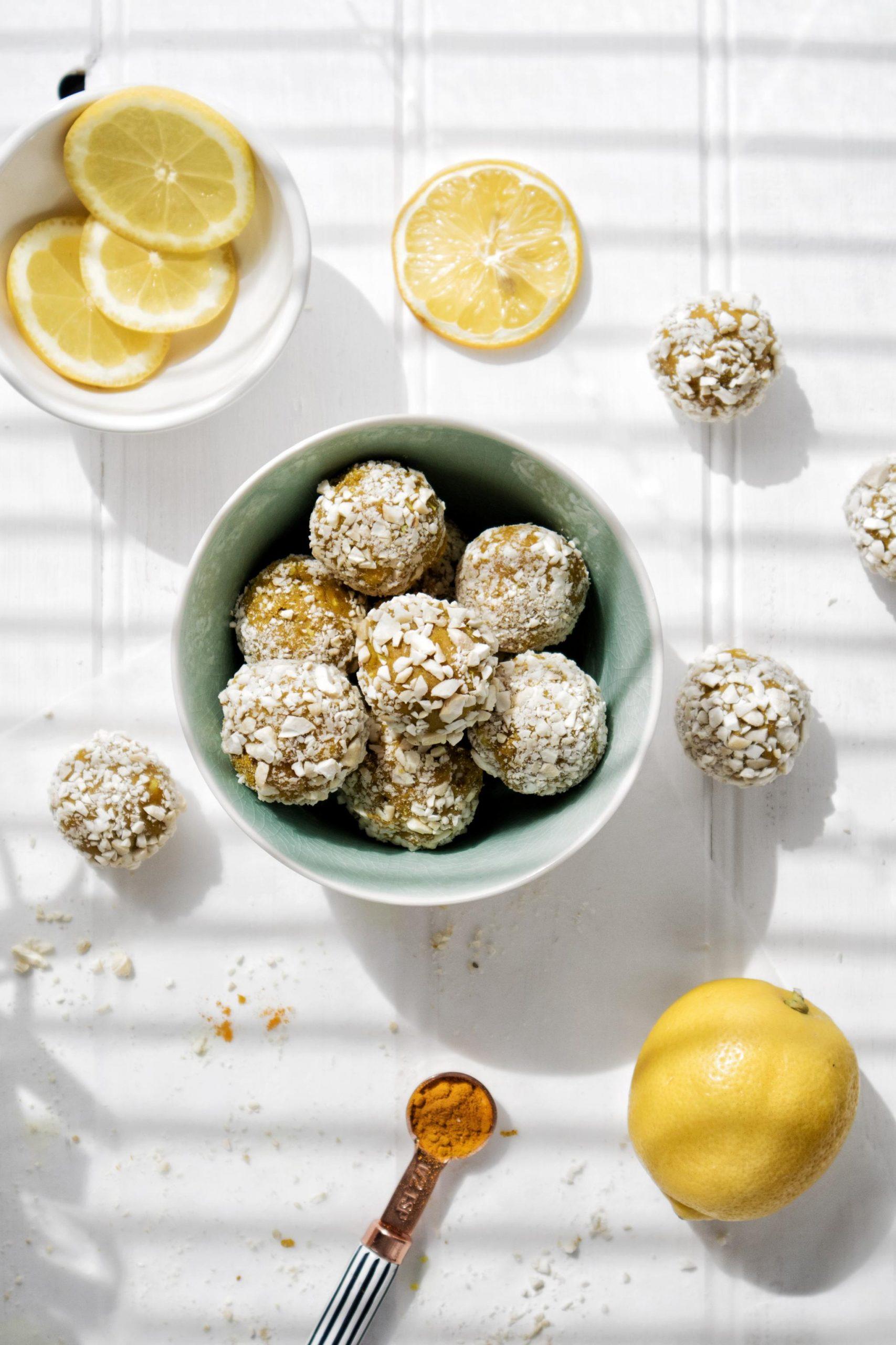 Vegan Bliss Balls Recipe Turmeric Protein