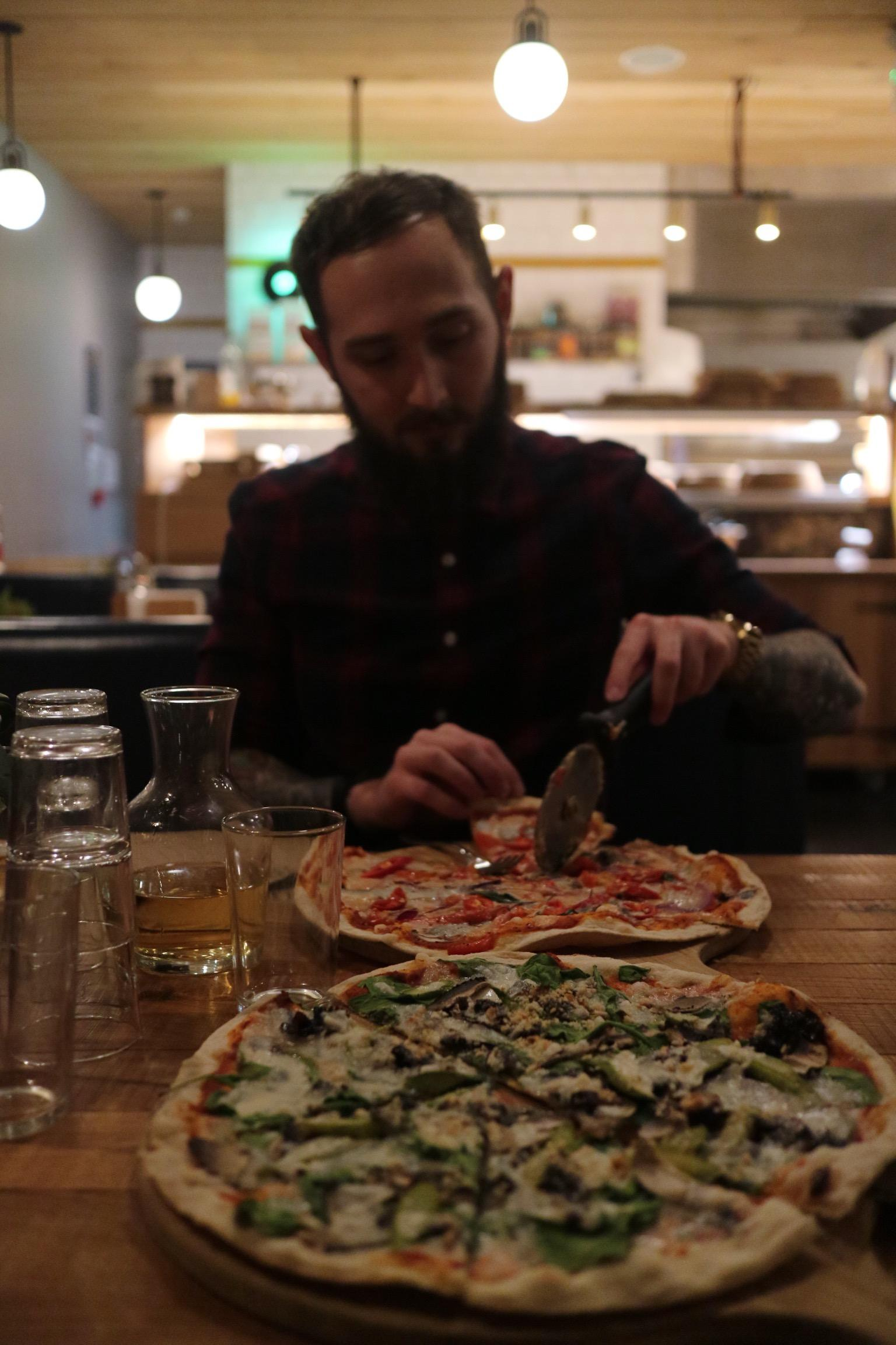 The Stable Kew Bridge Cider Tasting Vegan Pizza