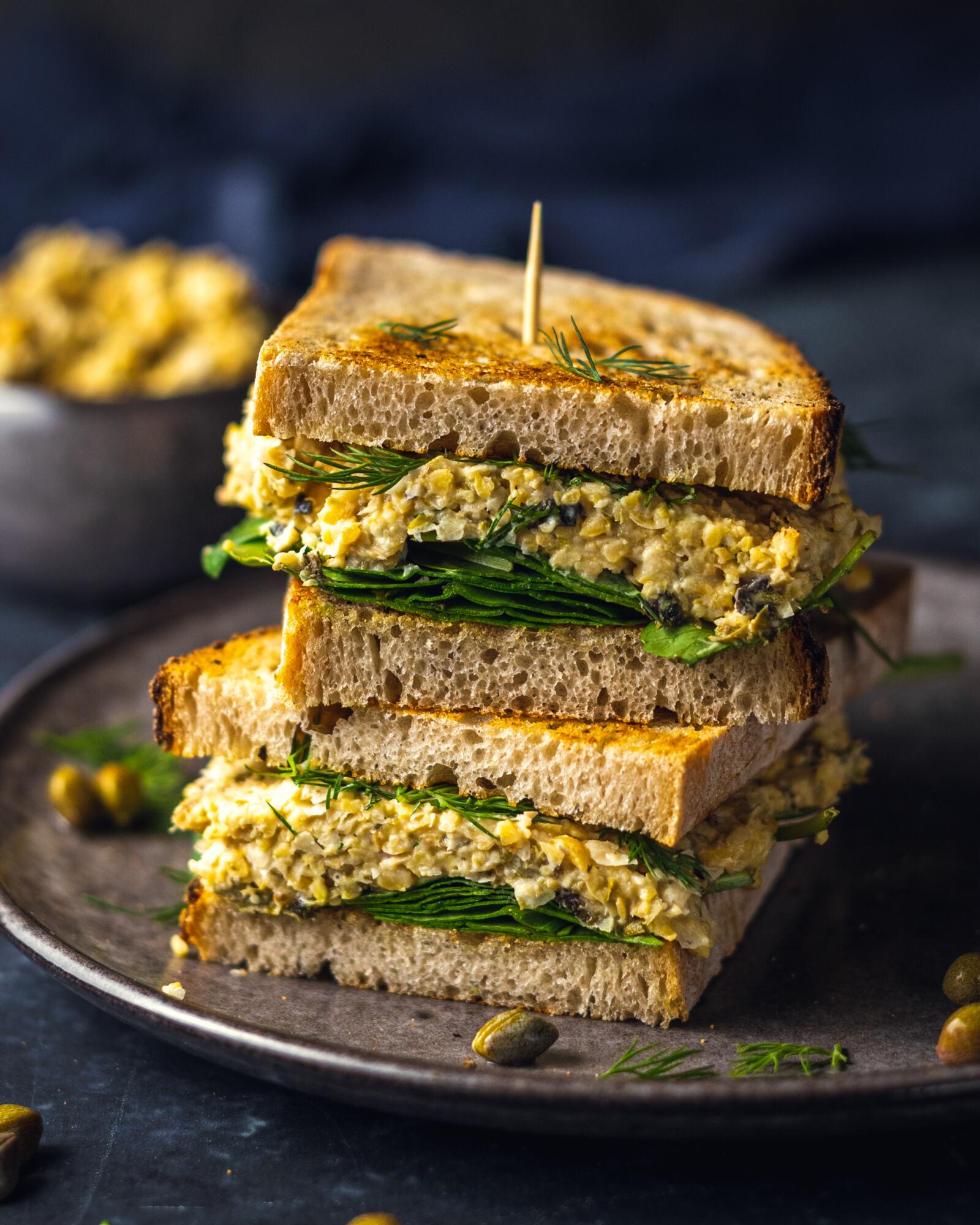 Easy Vegan Chickpea Tuna Mayo Recipe