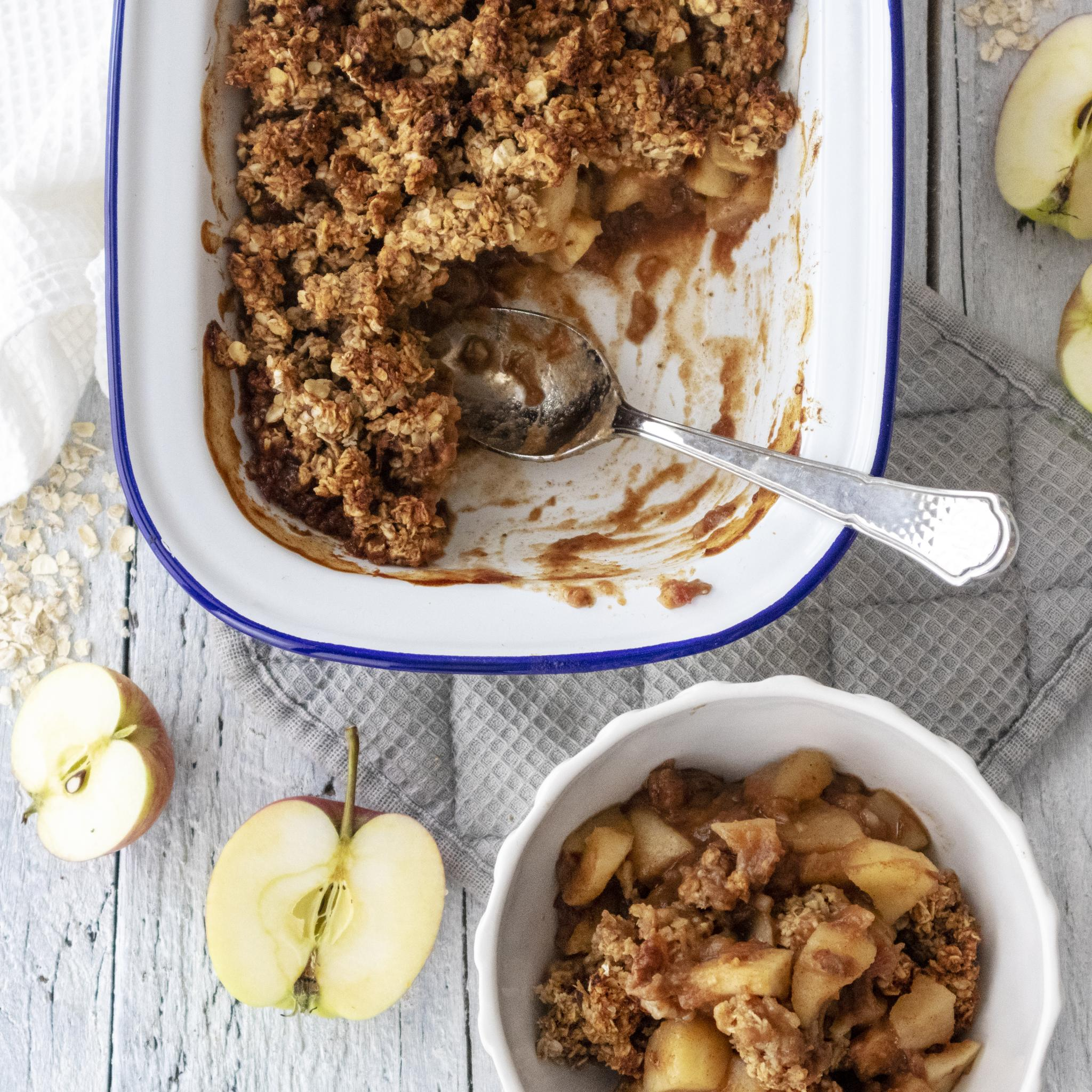 Vegan Breakfast Apple Crumble Recipe Refined Sugar Free