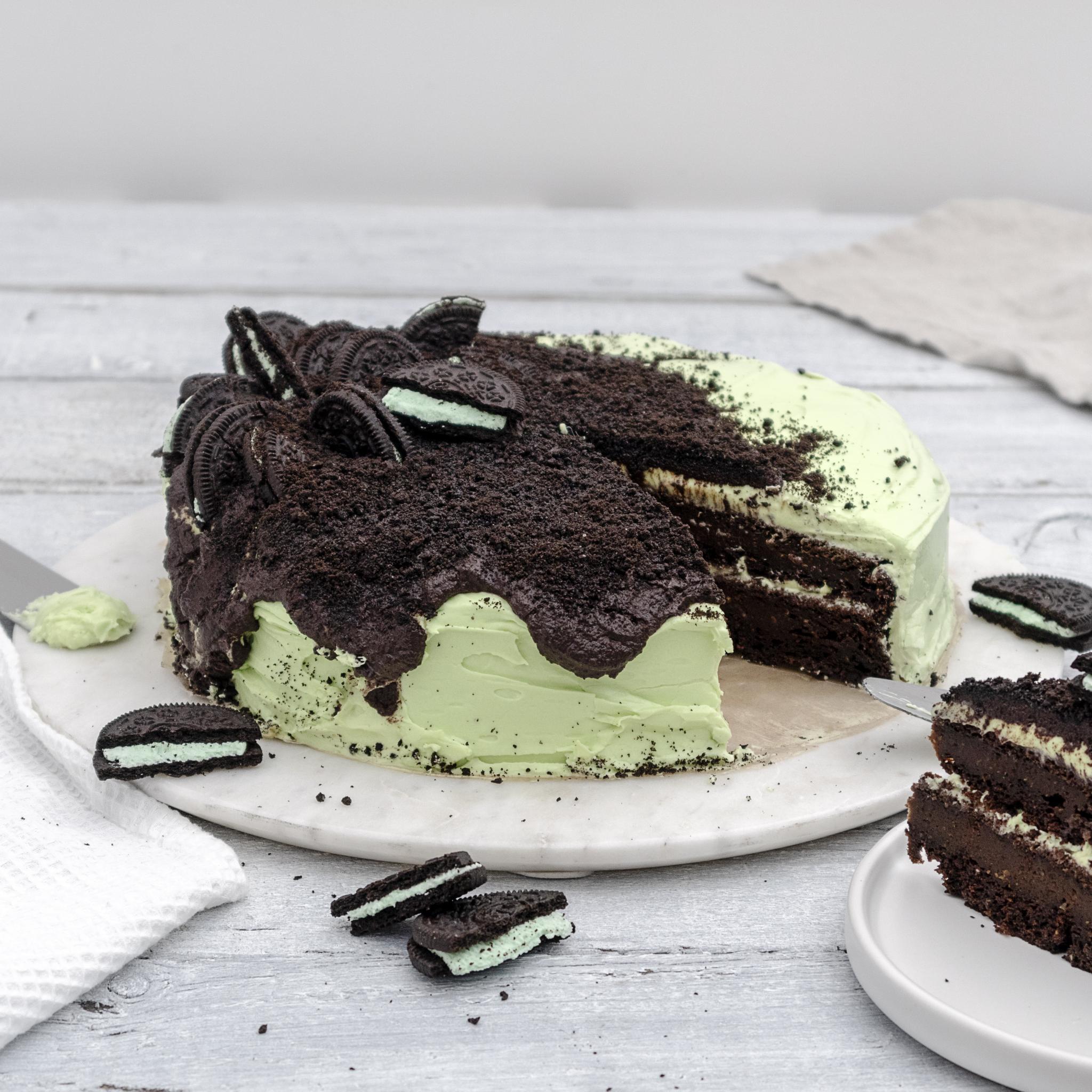 Vegan Chocolate & Mint Oreo Cake Recipe