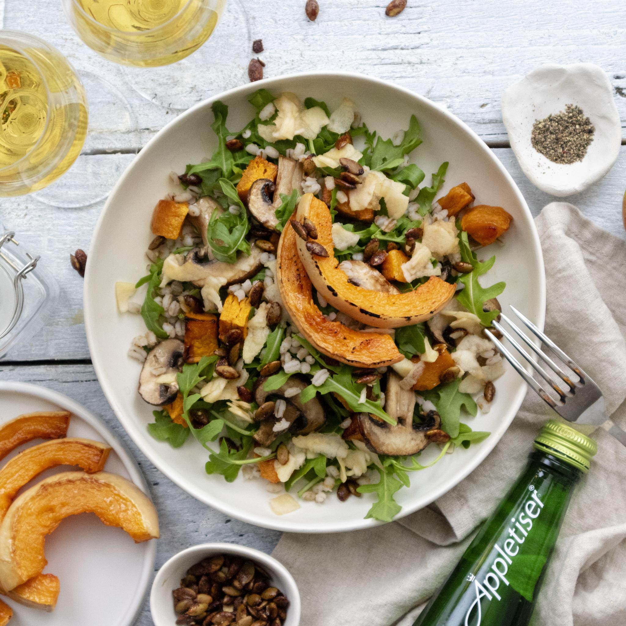 Roasted Pumpkin Salad Recipe (Vegan) Autumn Salad