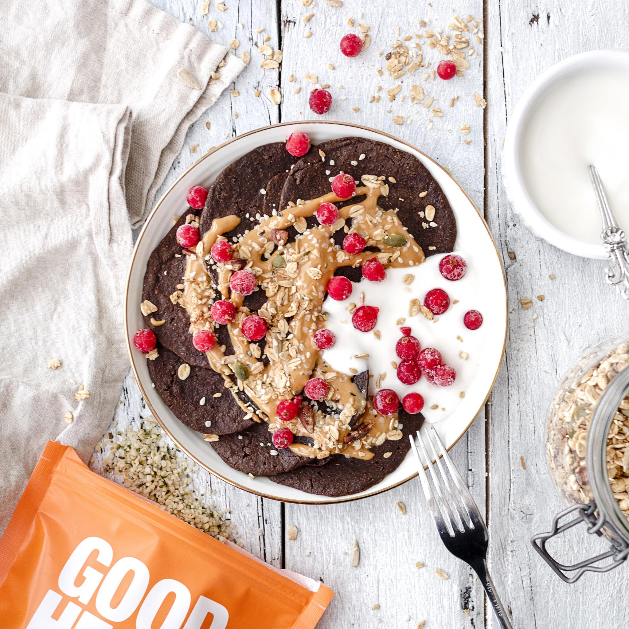 Chocolate Hemp Pancakes Recipe (Vegan)