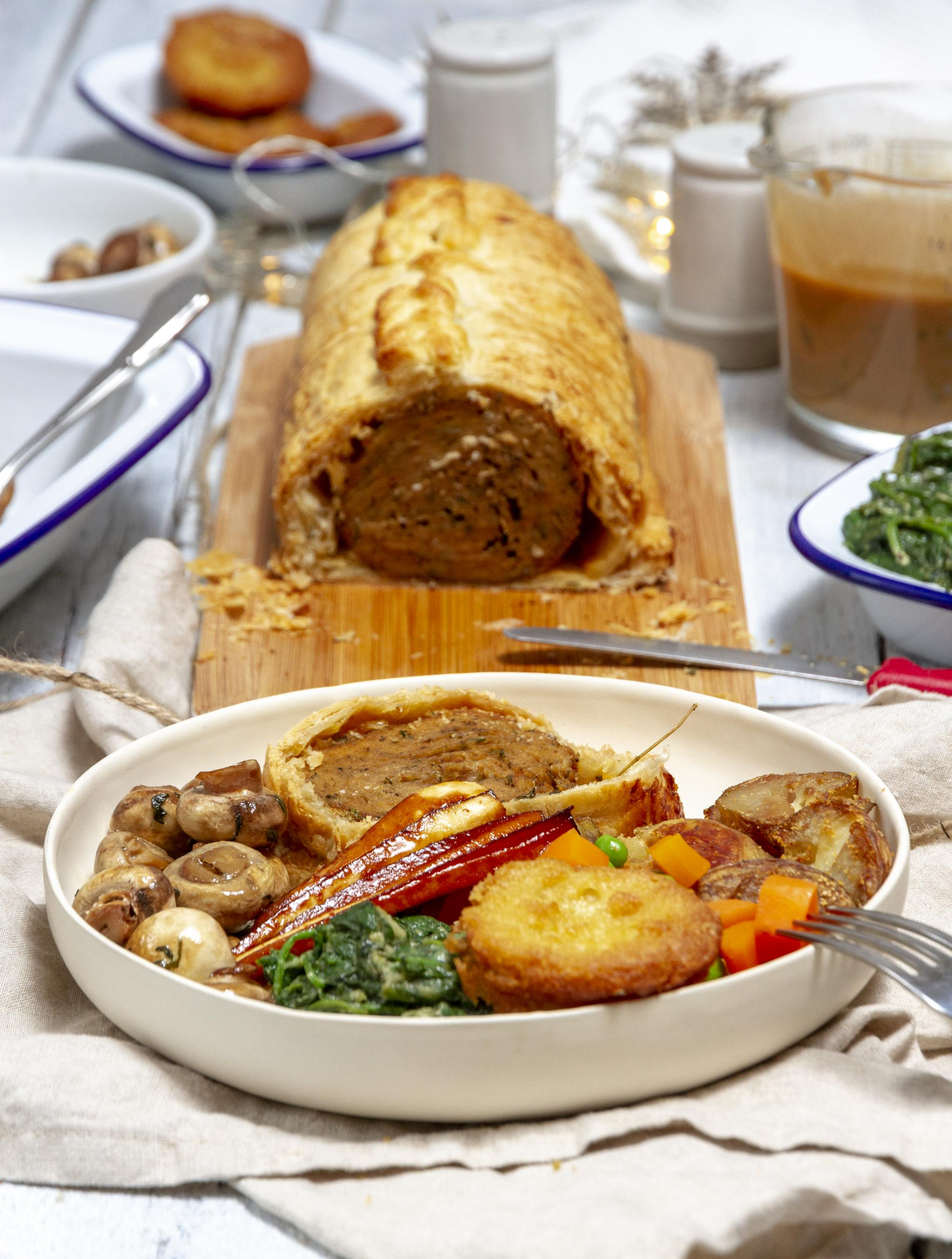 Festive Vegan Seitan Wellington Recipe