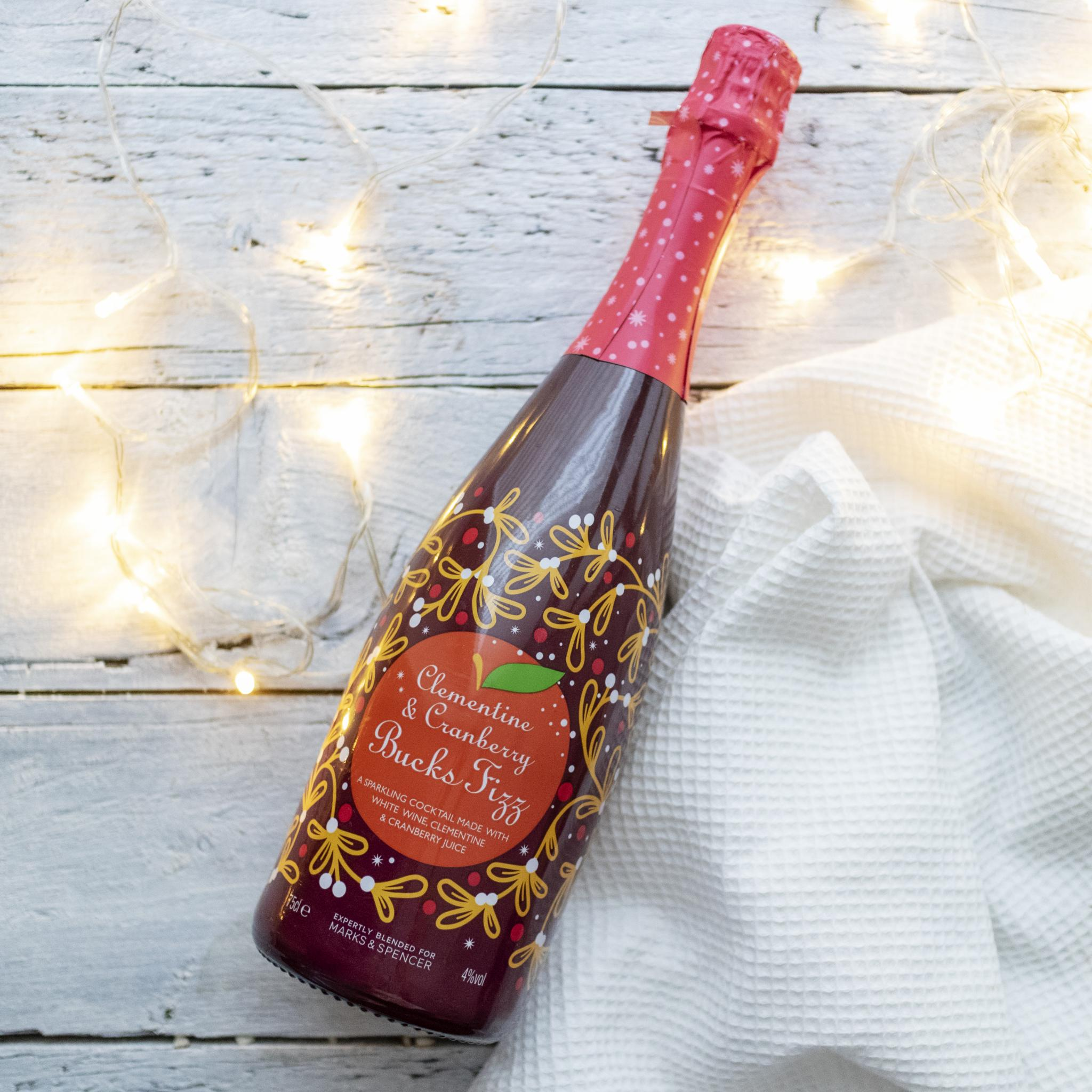 Vegan Christmas Booze Guide Festive Drinks Clementine and Cranberry Bucks Fizz M&S