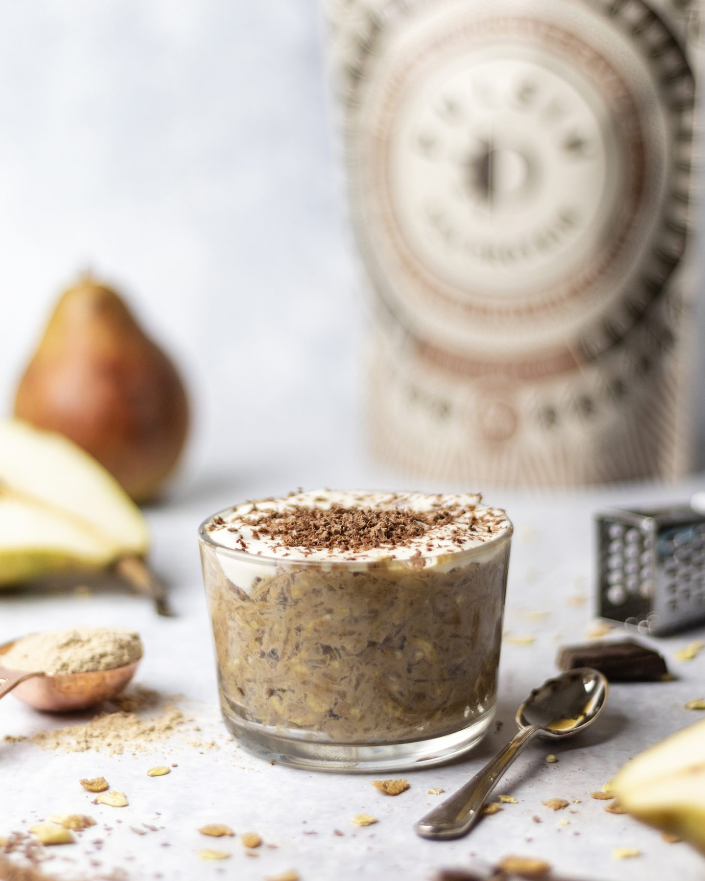 Pear and Chocolate Overnight Oats