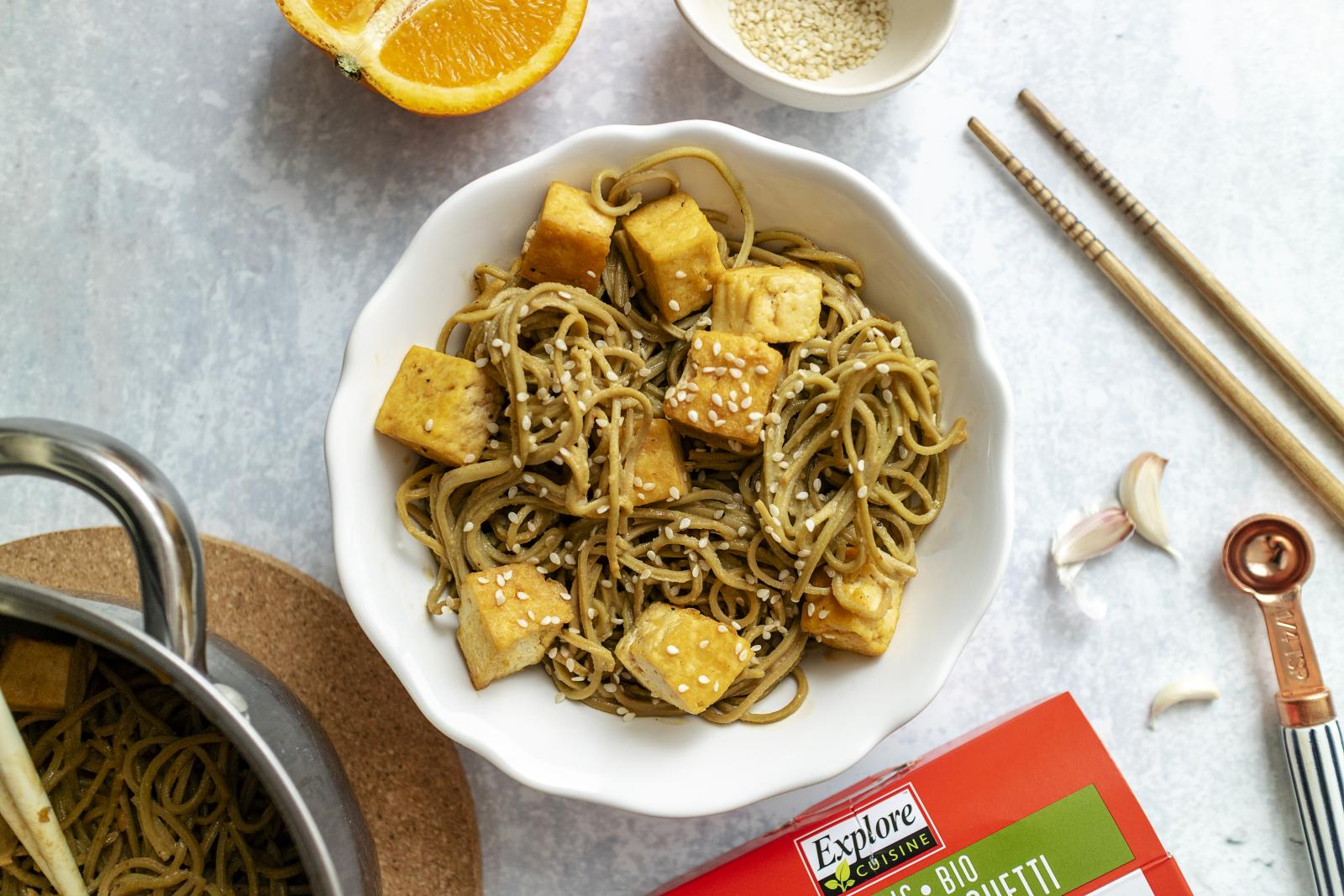 Simple Sesame Noodles (Vegan & High Protein)