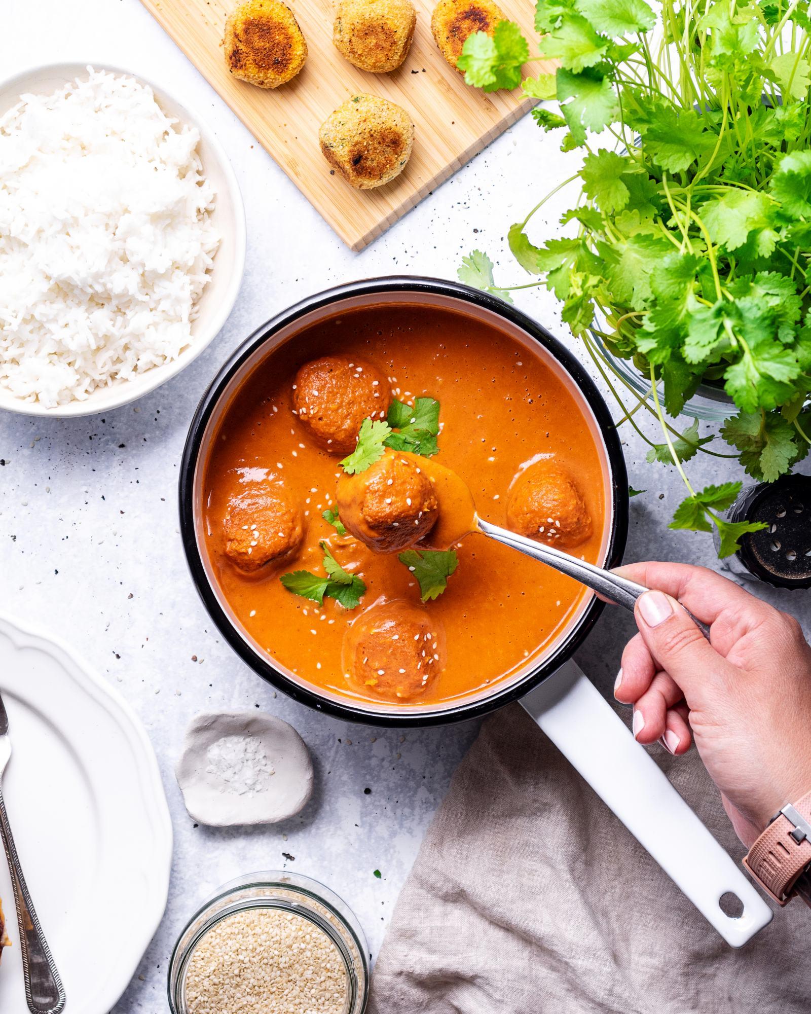 Vegan Falafel Curry