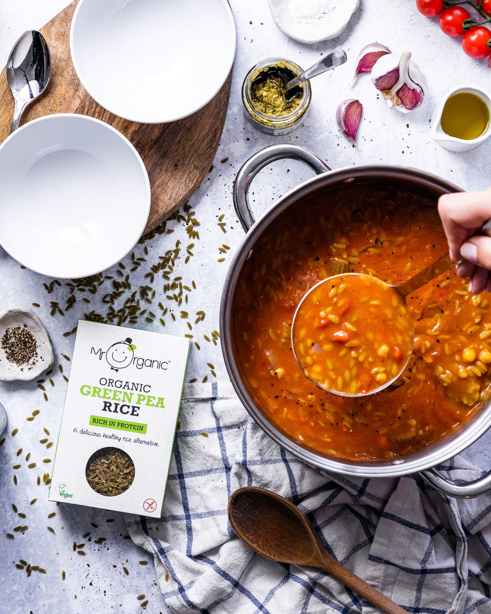 Easy Vegan Orzo Soup