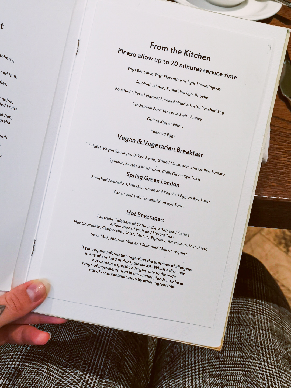 Vegan Breakfast at Carey's Manor Hotel Brockenhurst New Forest