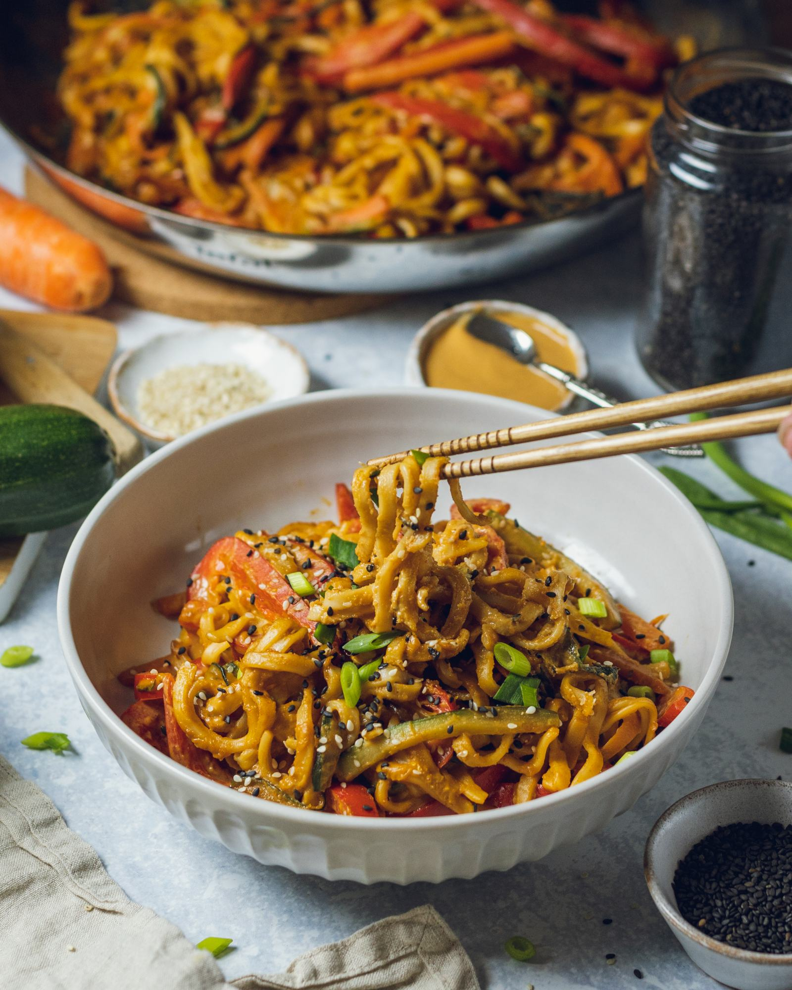 Vegan Peanut Noodles Recipe