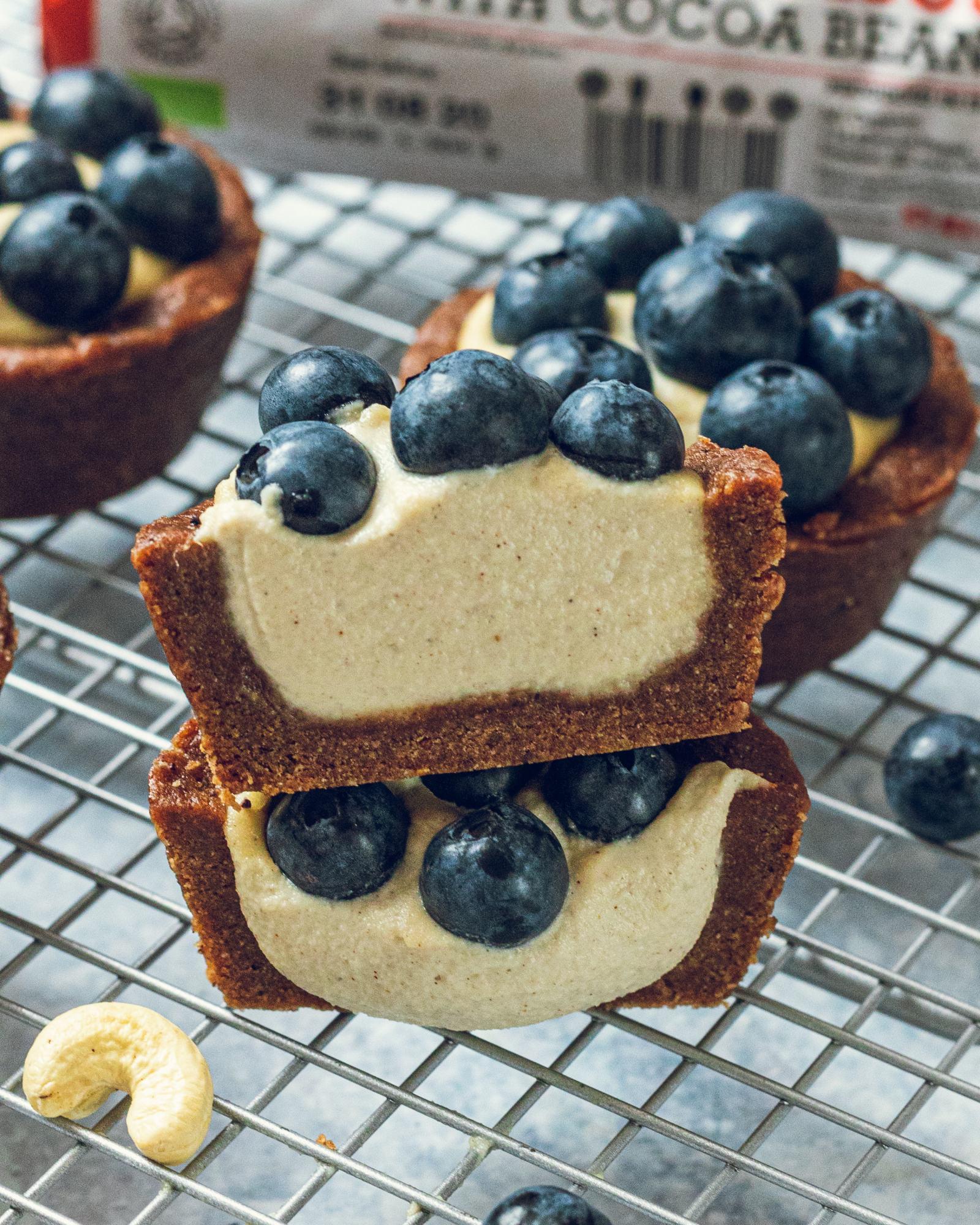 Vegan Blueberry Cheesecake Muffins