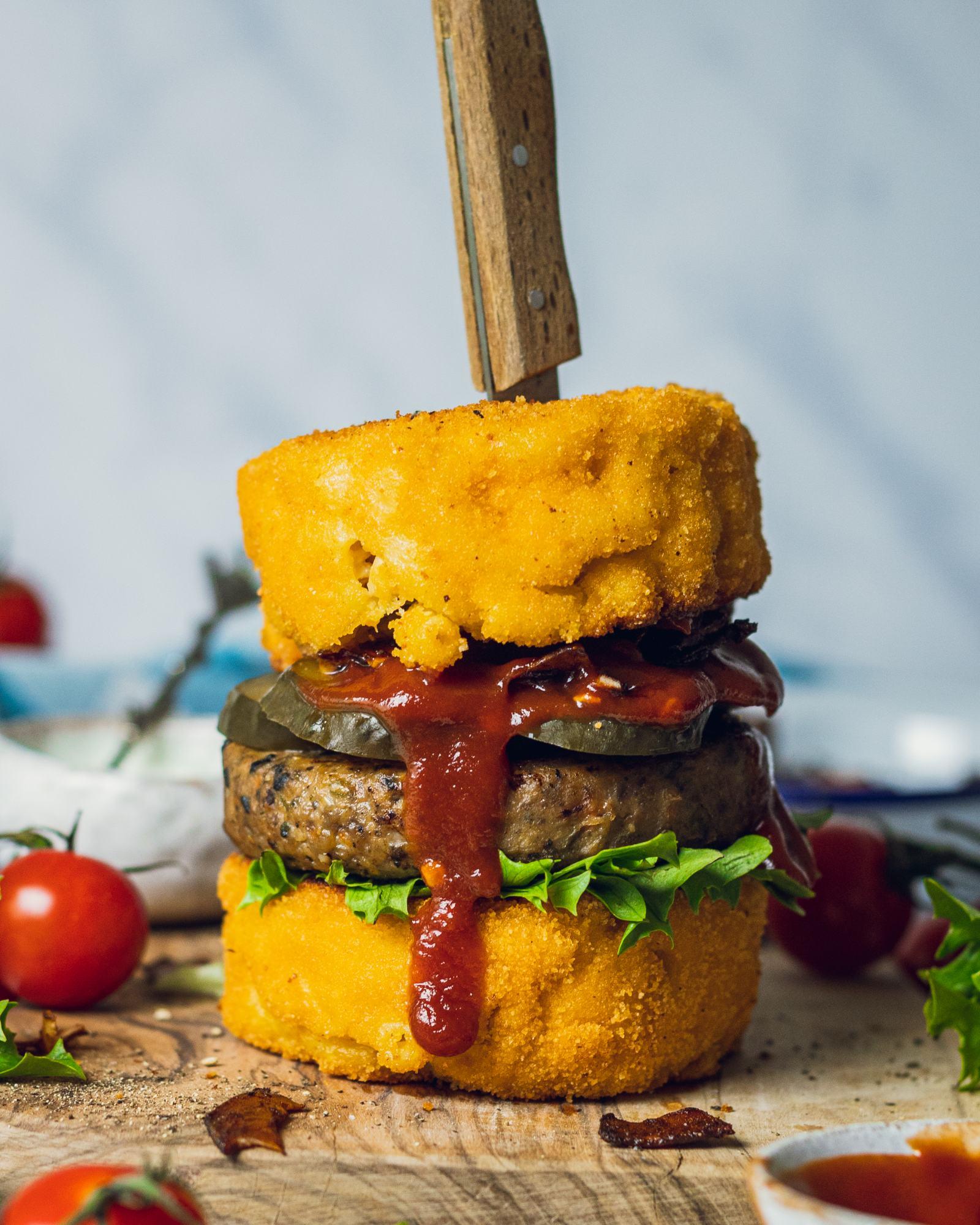 Vegan Mac & Cheese Burger