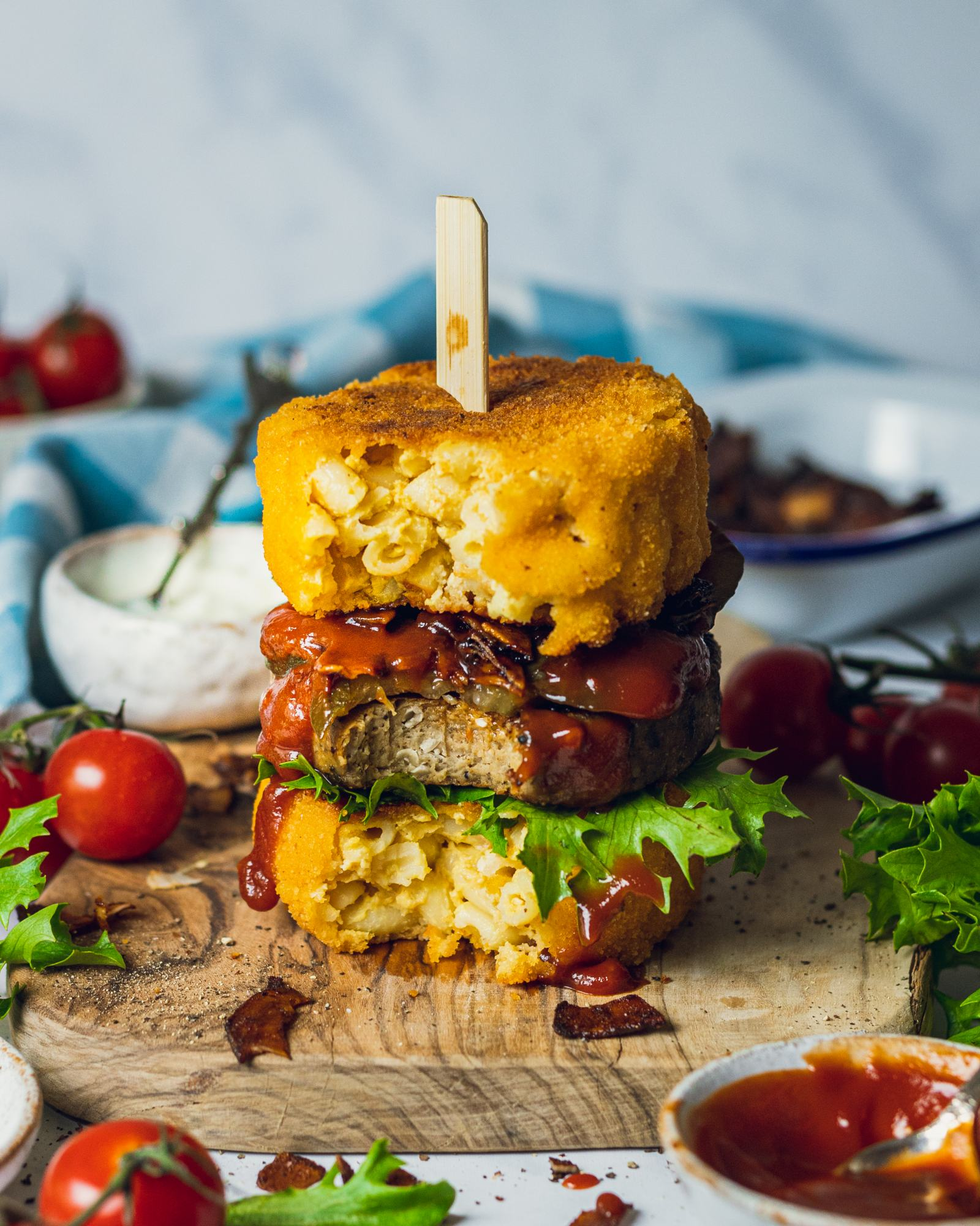 Vegan Mac & Cheese Burger