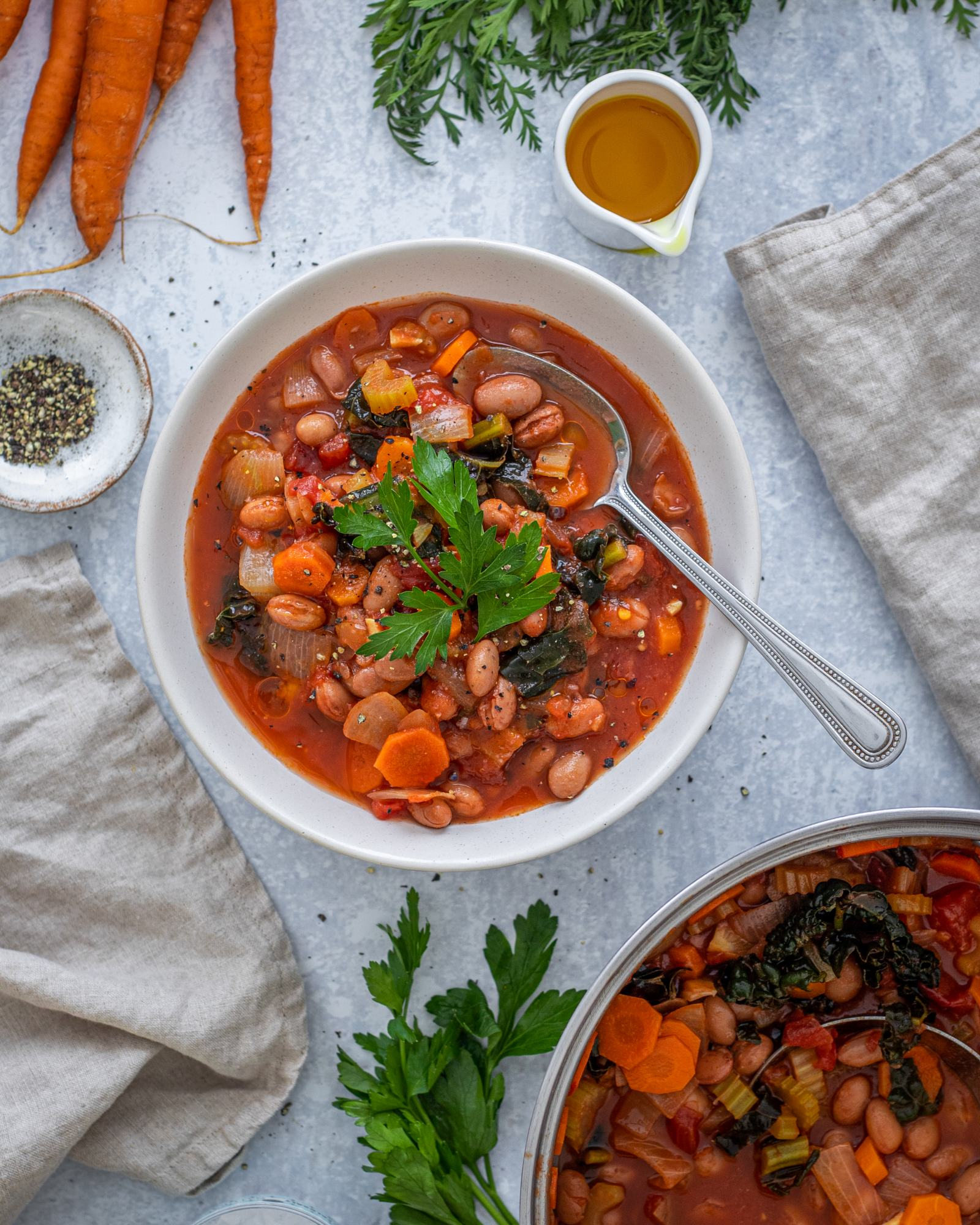 Kale and Borlotti Bean Soup Recipe