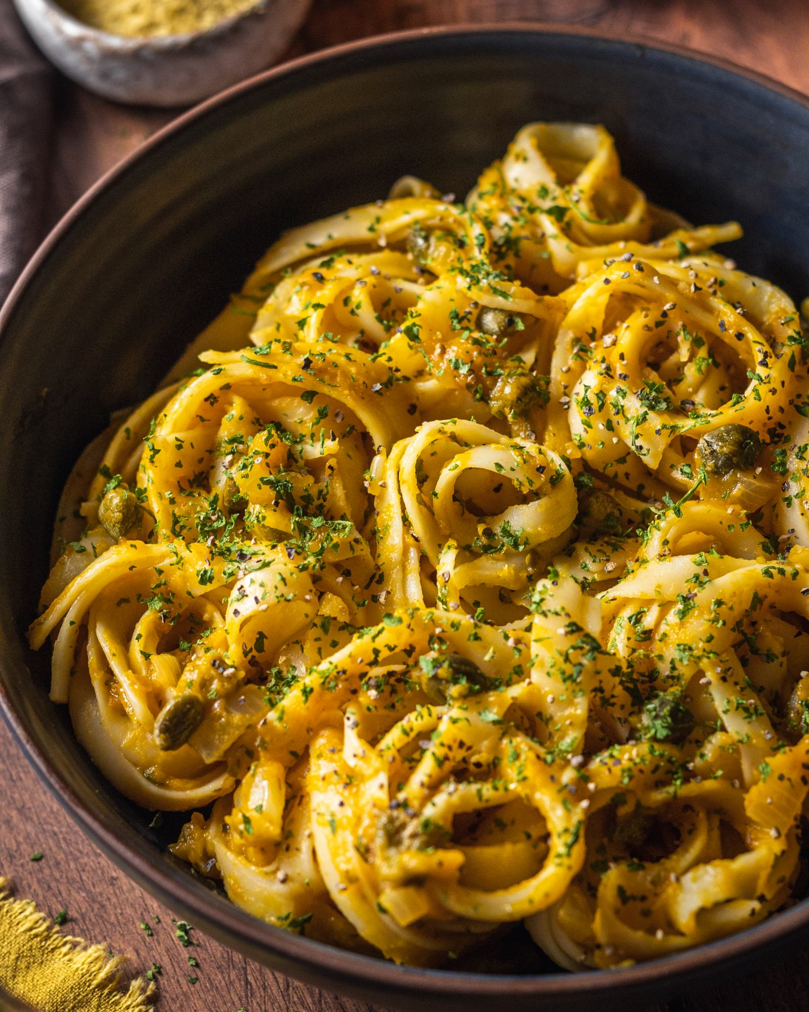 Vegan Pumpkin Linguine Recipe