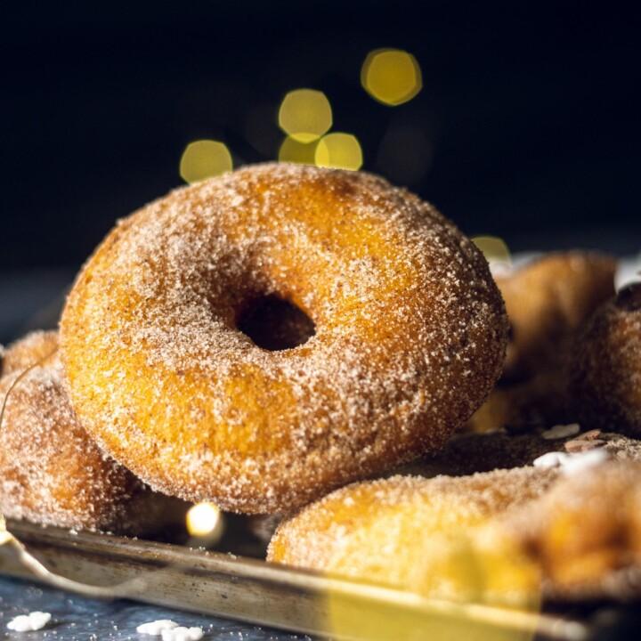 Vegan Donut Recipe with Cinnamon Sugar