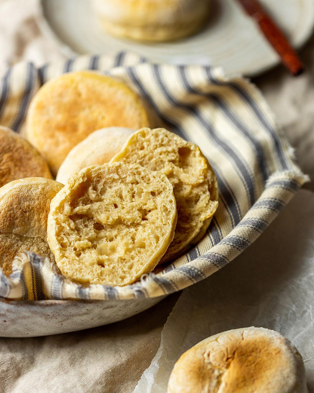 Sourdough English Muffins Recipe (sourdough discard recipe)