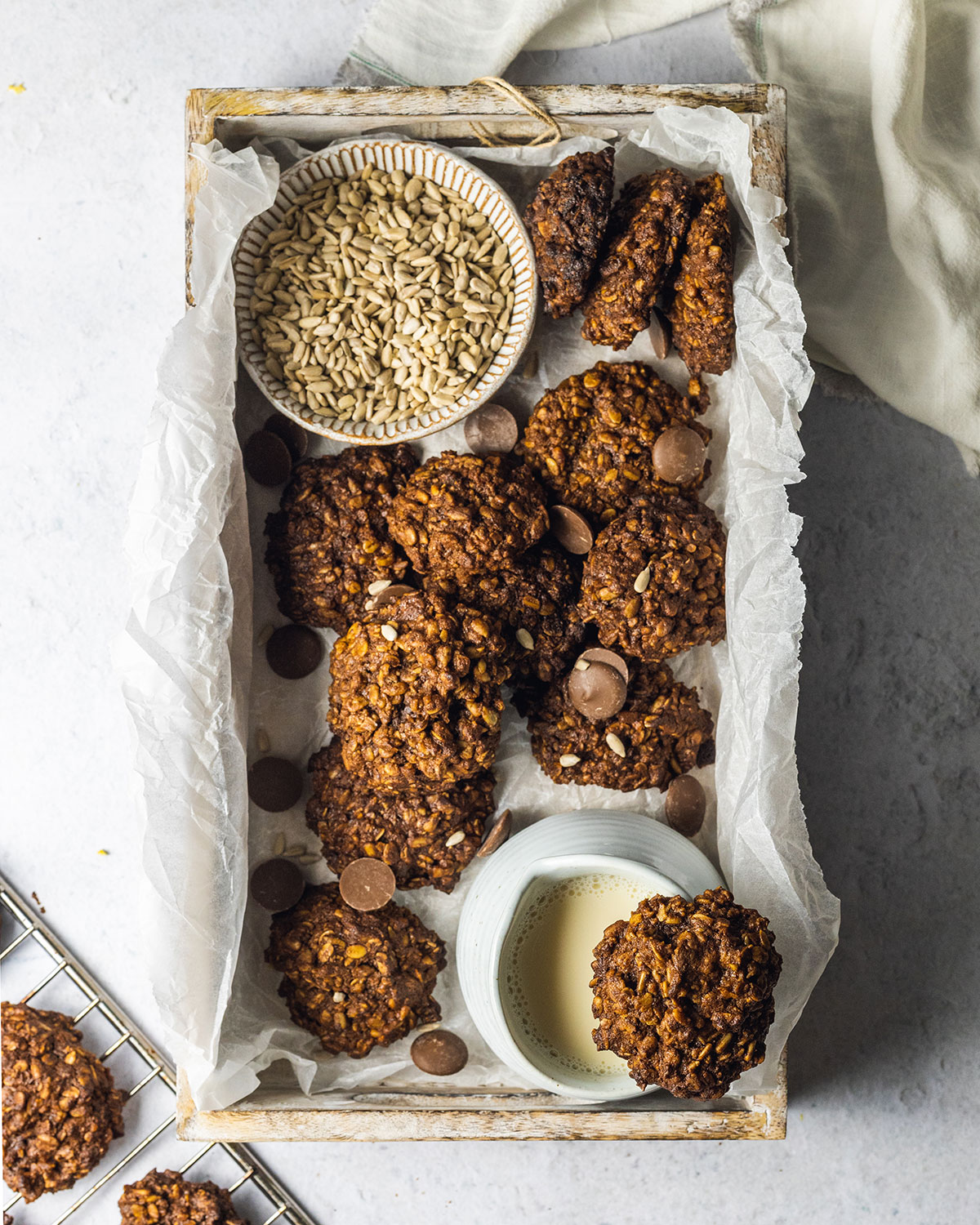 Vegan Sunflower Seed Cookies Recipe made with oats and banana (plantbased and gluten free)